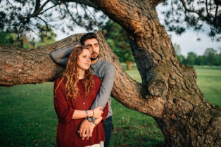 the colagrossis, bohemian engagement session in the woods by midwest wedding photographers serving Louisville Kentucky, Columbus Ohio, Grand Rapids Michigan, Chicago, Nashville, Atlanta, and Chattanooga