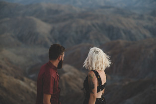 Joshua Tree California engagement session in the desert, Joshua Tree Elopement Photographers The Colagrossis