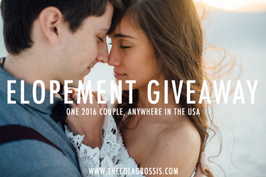Elopement giveaway by the colagrossis, destination and elopement wedding photographers