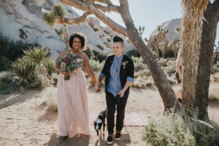 Joshua Tree Elopement, Joshua Tree California, same sex wedding, Joshua Tree National Park, Love Wins, Derby Girl Wedding, California Elopement Photographer, Joshua Tree Wedding Photographer