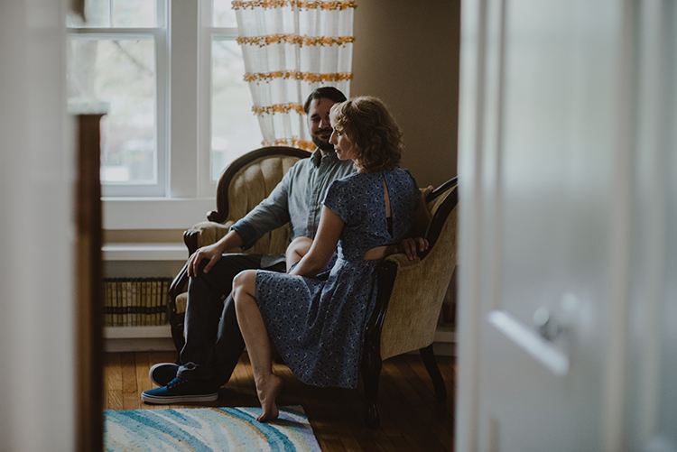 The Colagrossis, engaged, engagement session, in home session, home engagement session, louisville wedding photographers, louisville engagement photography, lookslikefilm, junebug engagement session, engagement inspiration