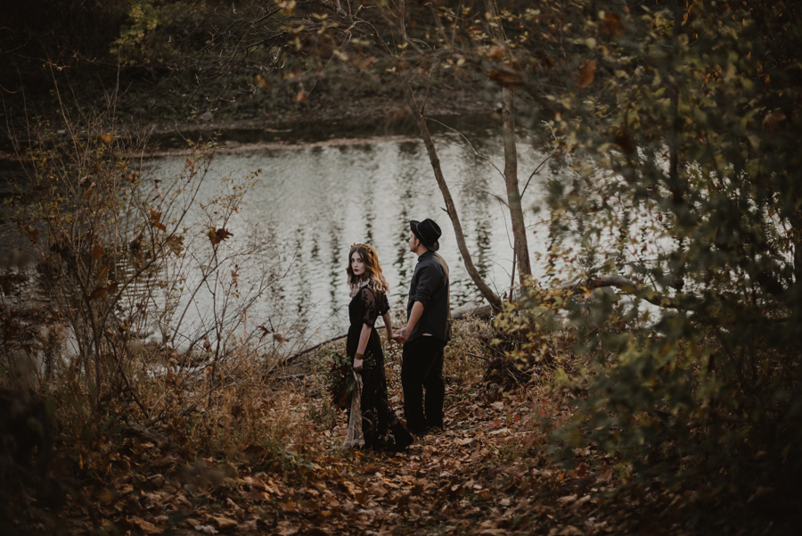 Michigan Elopement Collective, Elopement, elope in the woods, intimate wedding, midwest wedding, bhldn