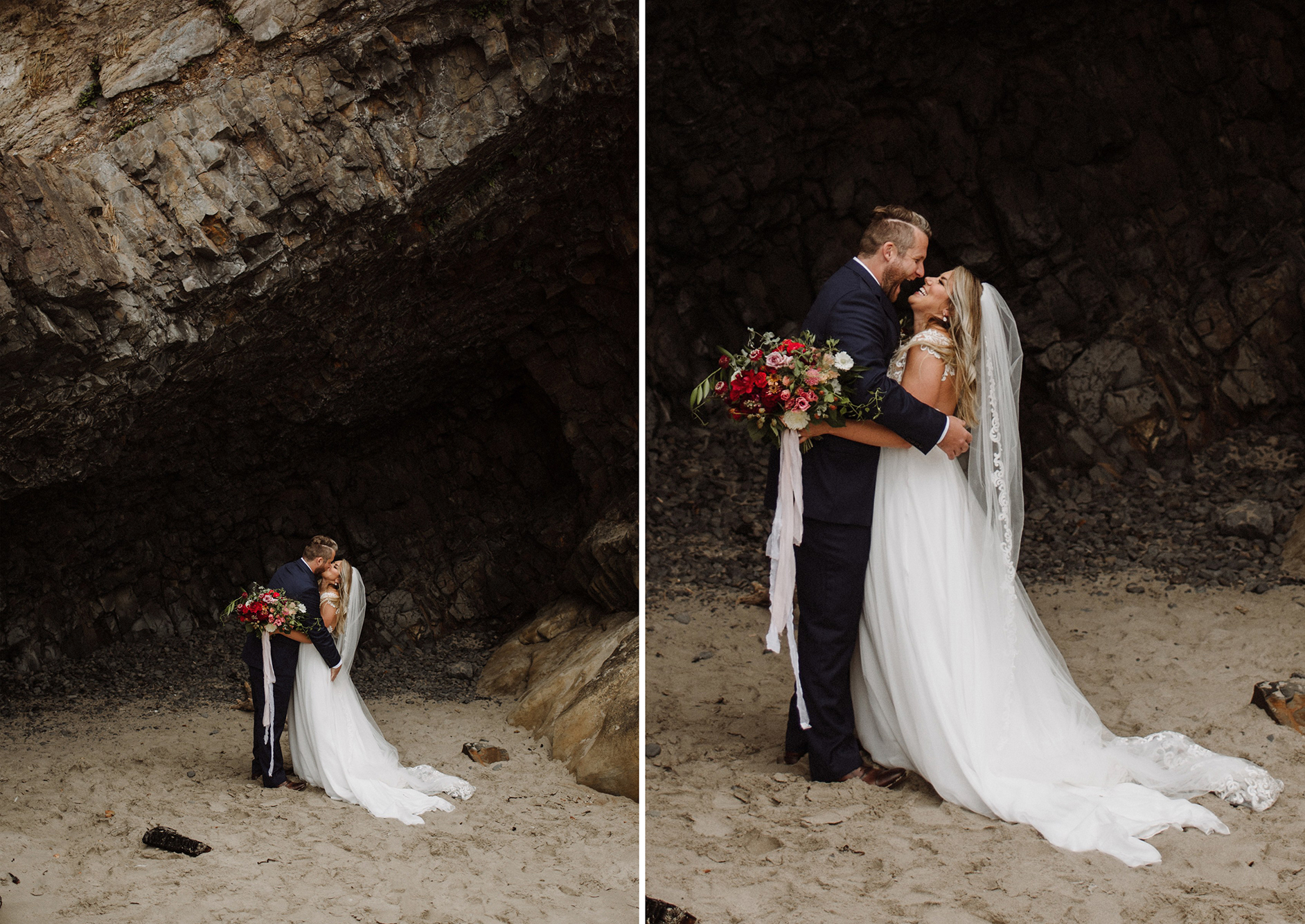 Oregon Coast Elopement, Hug Point Elopement, Cannon Beach Elopement, Elopement Photographer, Destination Wedding Photographer, The Colagrossis