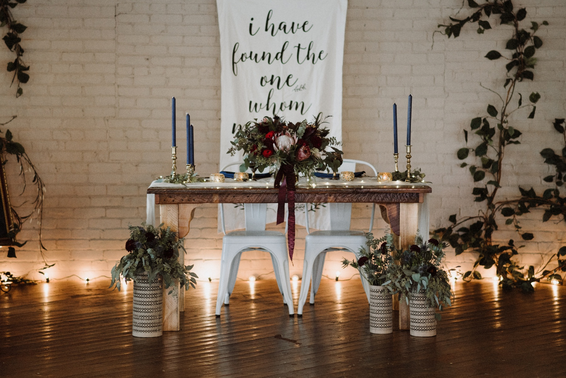 Bohemian industrial wedding at Coppes Commons in Nappannee, Indiana by The Colagrossis, Destination Wedding Photographers