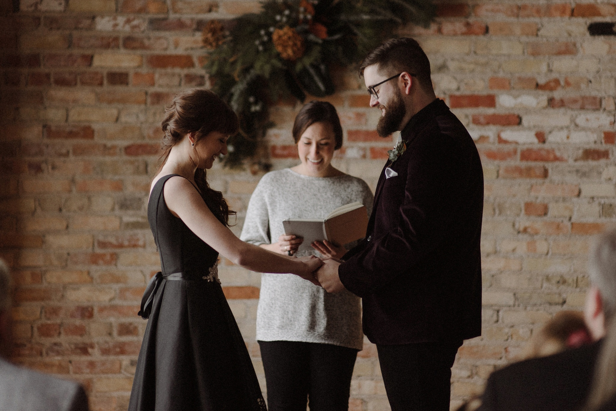 Winter solstice wedding, the Colagrossis and The Elopement Co.